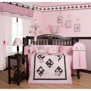 Pink Butterfly 13 piece Crib Bedding Set