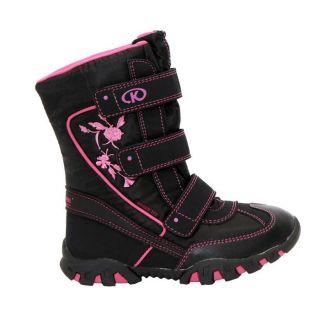 Modèle Ninon. Coloris  noir et rose. Après ski fille, parfaits par