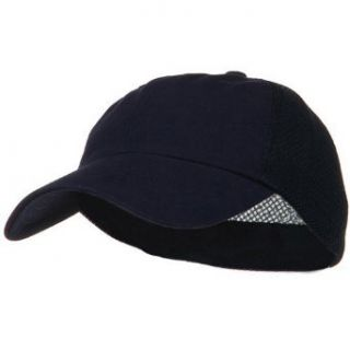 Low Profile Deluxe Mesh Fitted Cap   Navy W35S64A
