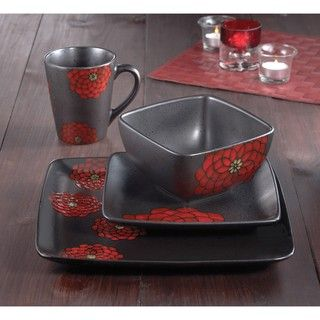 American Atelier Asiana Red 16 piece Dinnerware Set