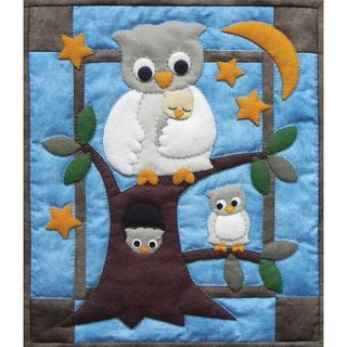 Owl Family Wall Hanging Quilt Kit 13X15
