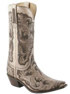 I4728 Womens Western Cowboy Boots Shoes Leather Lazer Tooled Shoes