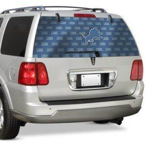 Deroi Lions eam Auo Rear Window Decal Spors