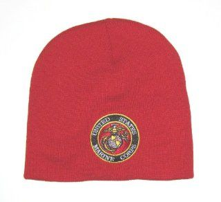 U.S. Marine Corps Embroidered Classic Cuffless Red Knit