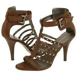 Nine West Jamil Dark Natural Leather Sandals
