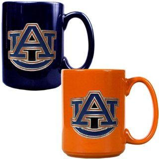 Auburn 2 Piece Coffee Mug Set (Team Colors) Sports