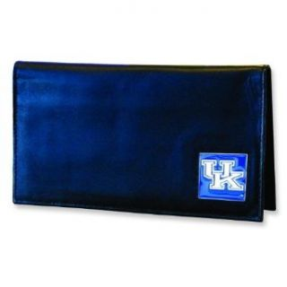 University of Kentucky Leather Checkbook Cover Wallet