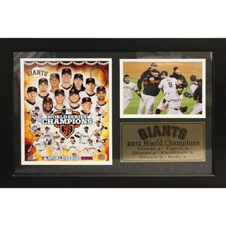 San Francisco Giants 2012 World Champion Photograph with Statistics