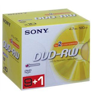 Sony DVD RW 2x   Achat / Vente CD   DVD   BLU RAY VIERGE Sony Pack de