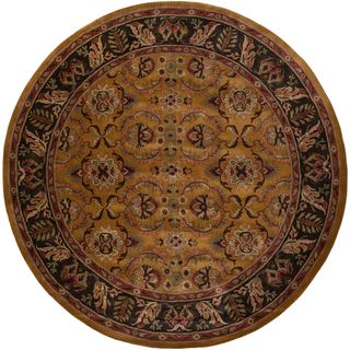 Hand tufted Duvall Parchment Wool Rug (10 Round)