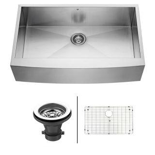 Vigo 36 inch Farmhouse Stainless Steel Kitchen Sink/ Grid/ Strainer