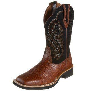Ariat Womens Showbaby Square Toe Boot,Cognac/Black,5.5 M US Shoes