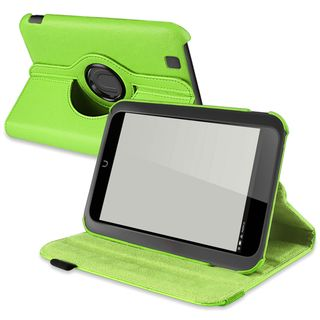 BasAcc Green Leaher Swivel Case for Barnes & Noble Nook HD