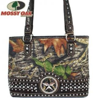 Mossy Oak Rhinestone Gemstone Studded Camouflage Shoulder