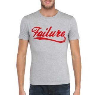 Modèle Failure   Coloris  gris et rouge. T Shirt 55DSL Homme. Col