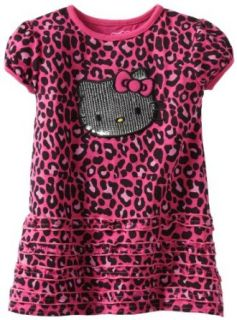 Hello Kitty Girls 2 6X Cheetah Print Knit Dress, Very