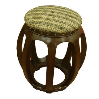 Kinfine Wood Carved Accent Furniture Ottoman