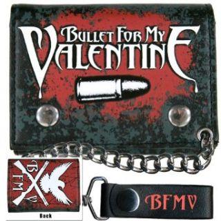 Bullet For My Valentine   Cross Gun Bird Chain Wallet