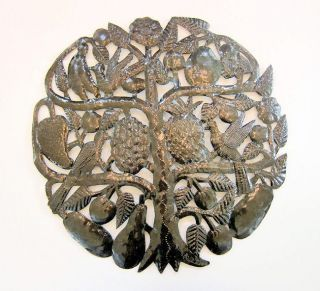 Recycled Steel Drum Tree of Life Wall Art (Haiti)