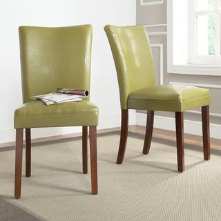 ETHAN HOME Parson Estonia Olive Green Side Chairs (Set of 2