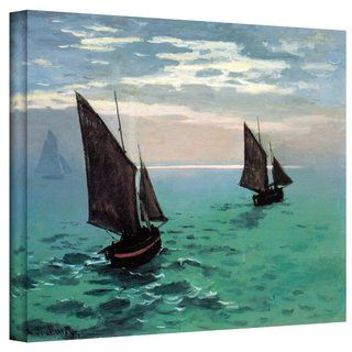 Claude Monet Two Sailboats Gallery Wrapped Canvas