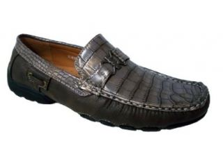 Moccasin Shoes Alligator Gator Design (10.5, Grey Simon 02) Shoes