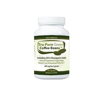 Pure Green Coffee Bean Extract 400mg Dietary Supplement with 50