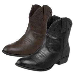 Madden Girl Womens Snapshot Cowboy Boots