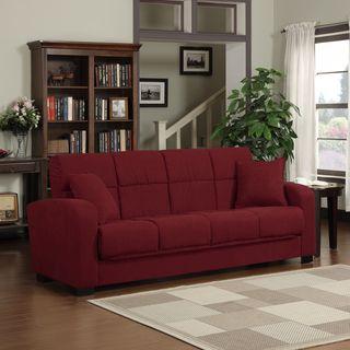 Portfolio Turco Convert a Couch® Crimson Red Microfiber Futon Sofa