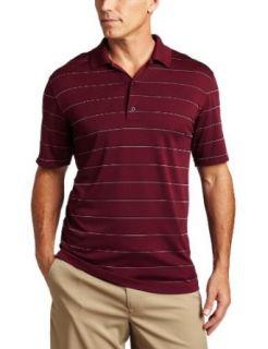 Greg Norman Mens Performance Pique Multi Striped Top
