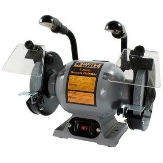 Black Bull 8 inch Bench Grinder with Lights