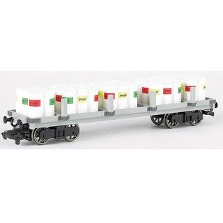 Bachmann HO Scale Thomas and Friends Flat Car with Paint Drums