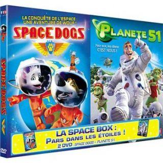 DVD FILM DVD Coffret space box  space dogs ; planete 51
