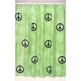 Groovy Peace Sign Tie Dye Shower Curtain Today: $37.99