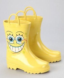 Squarepants Boys Yellow Rain Boots (Toddler/Little Kid) Shoes