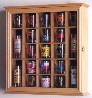 21 Shot Glass Shooter Display Case Holder Cabinet Wall