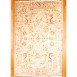 Hand knotted Oushak Beige/Salmon Wool Rug (118 x 18)