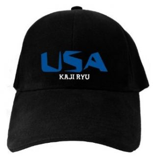 Caps Black Usa Kaji Ryu  Martial Arts Clothing