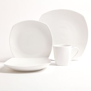 Gibson White Gardenia 16 piece Bone China Dinnerware Set