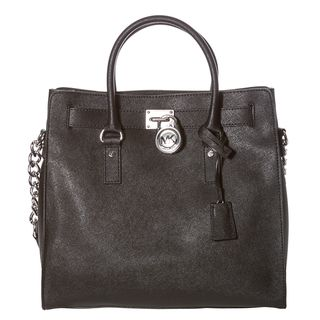 MICHAEL Michael Kors Hamilton Large Black Saffiano Tote Bag