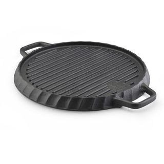 Paula Deen Pre seasoned 12 Inch Reversible Cast Iron Grill/ Griddle