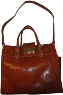 Womens Calvin Klein Purse Handbag Leather Tote Luggage