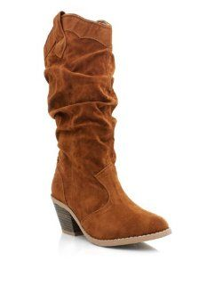 Slouchy Suede Cowgirl Boots: Shoes