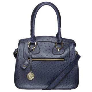 London Fog Womens Knightbridge Ostrich Embossed Tote Bag