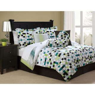 Pixell 8 piece Bed in a Bag with Sheet Set