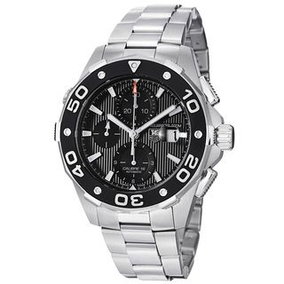Tag Heuer Mens Aquaracer 500 Black Dial Stainless Steel Watch