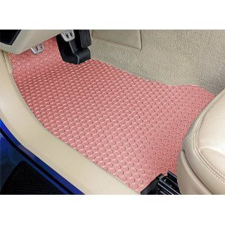 Rubber Floor Mats Front and Rear Set   Pink (1962 62 1963 63 1964 64