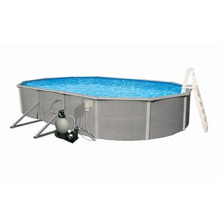 Belize Above Ground 15 x 30 foot Oval Swimming Pool Package