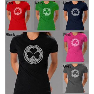 Los Angeles Pop Art Womens Irish T shirt