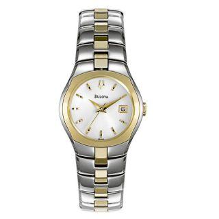 Bulova Two tone Womens Bracelet Watch